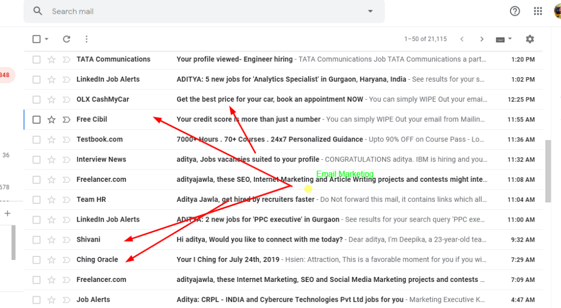 this is an example of email marketing